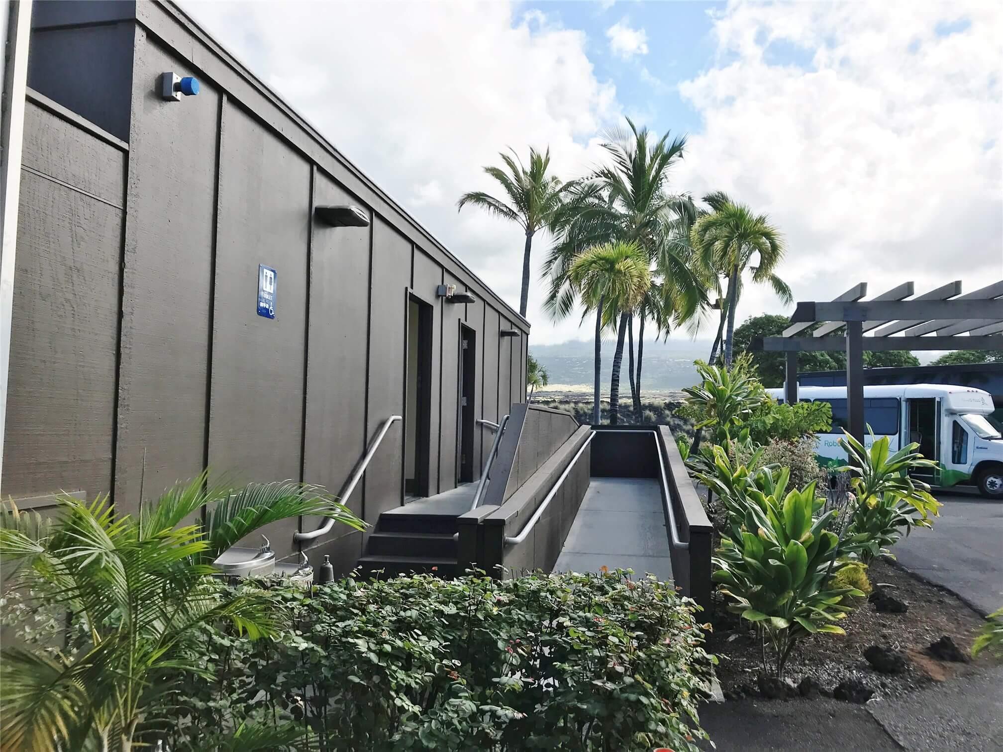 kona airport arrival terminal restroom