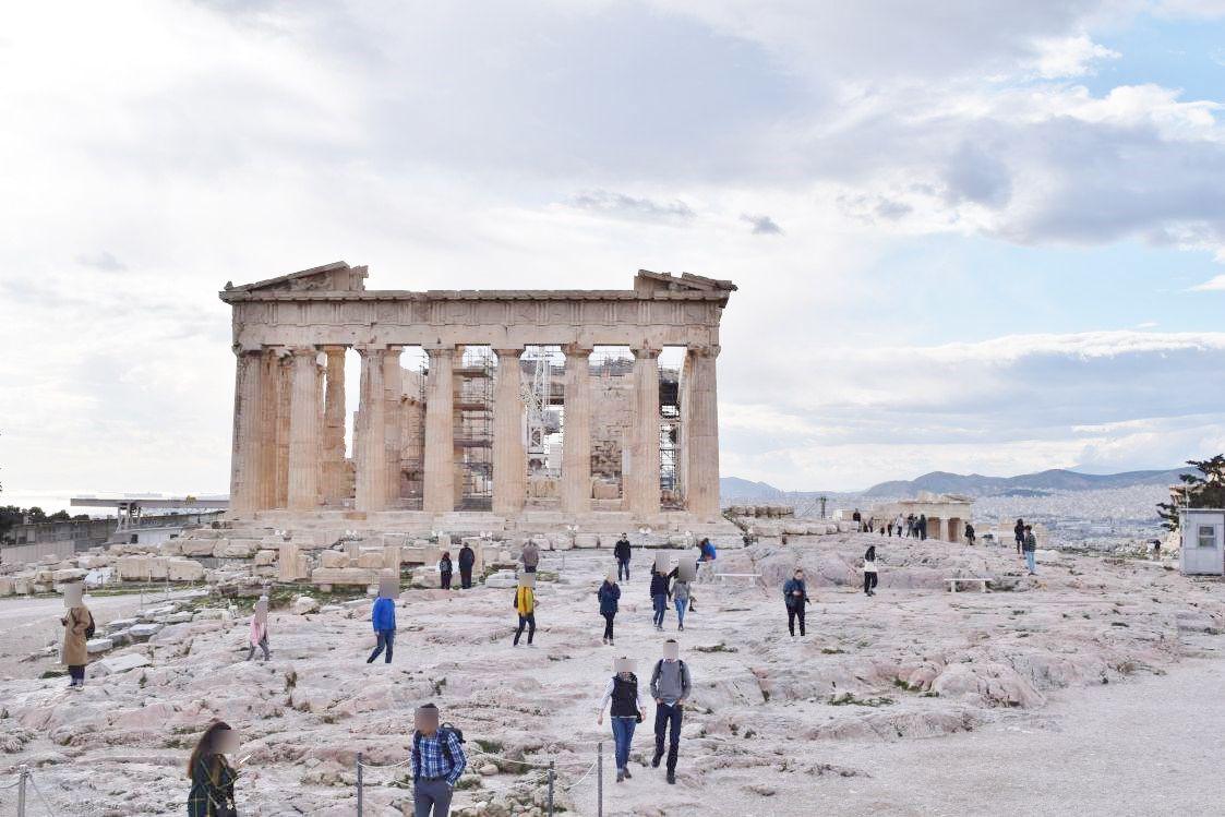 パルテノン神殿の遠景