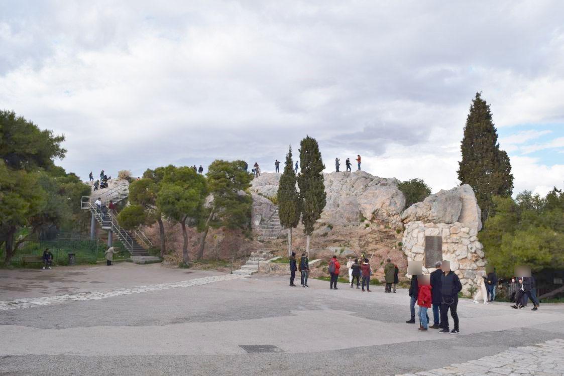 アクロポリス近くの小高い丘