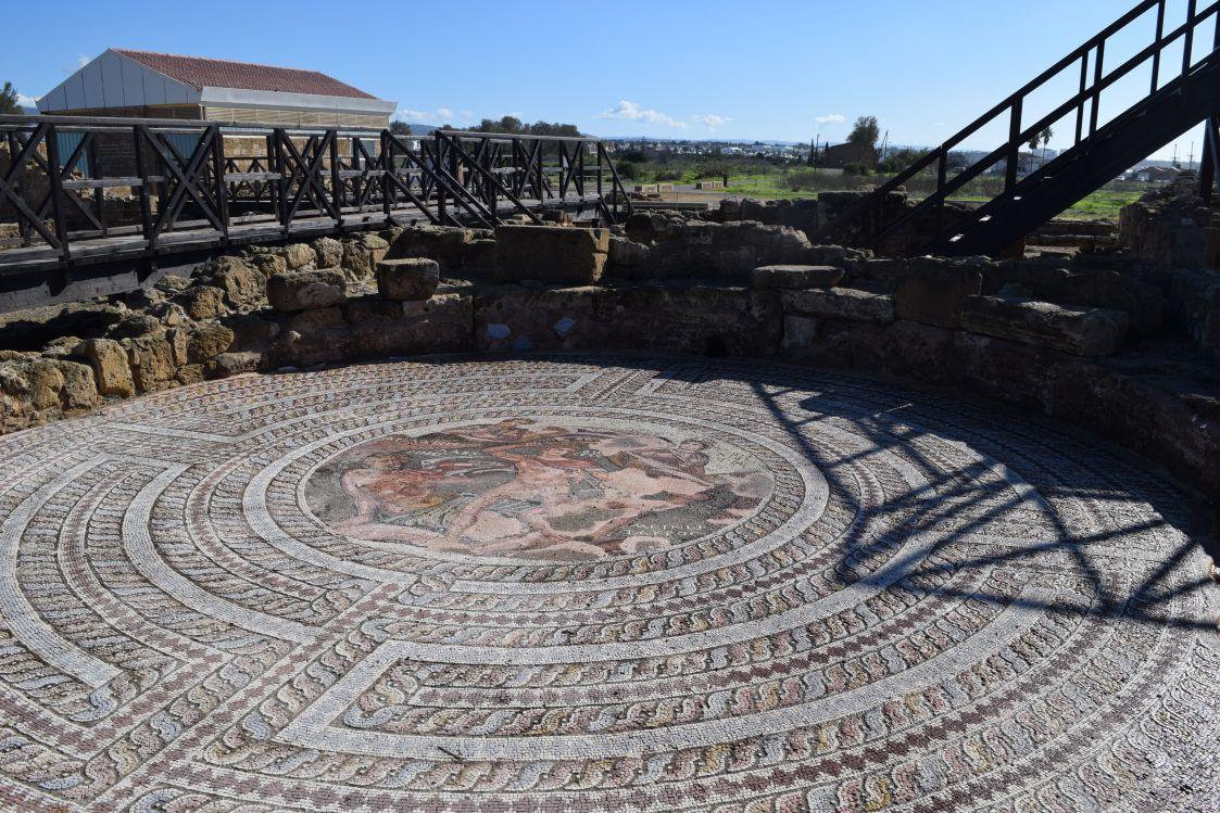 パフォス考古学公園-テセウスの館-テセウスとミノタウロス