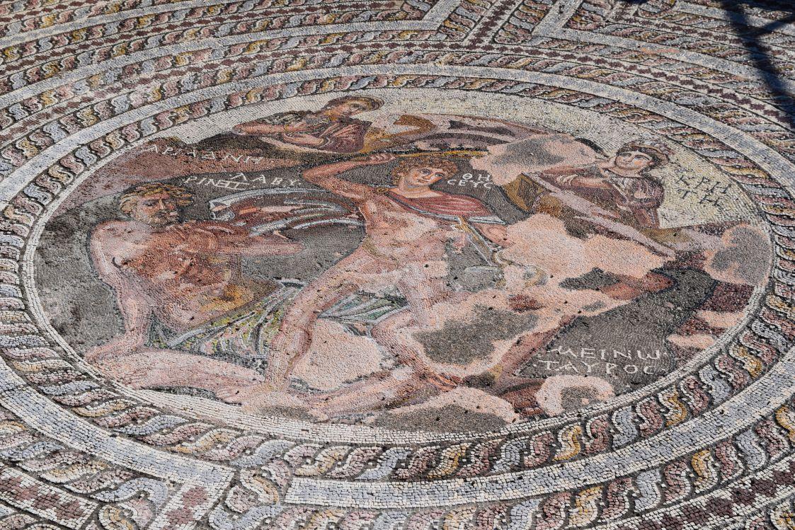 パフォス考古学公園-テセウスとミノタウロス