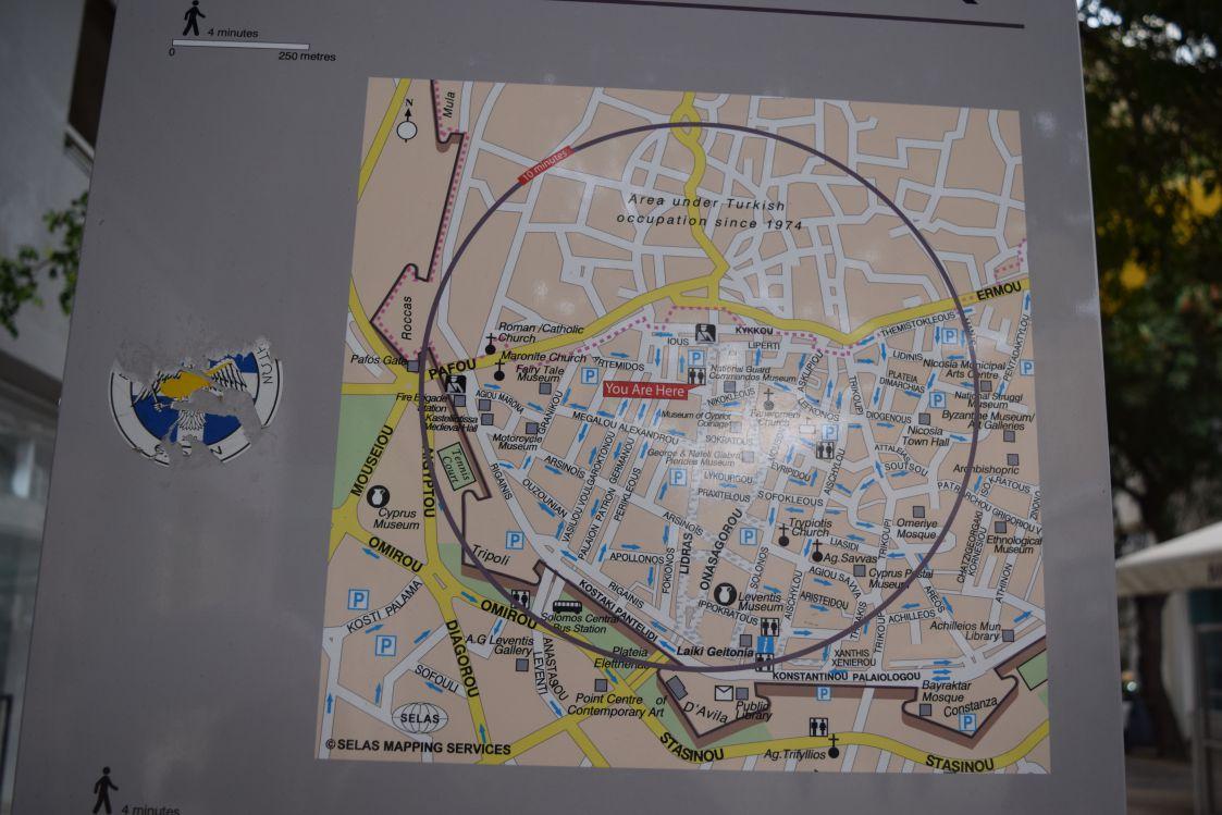 ニコシア-旧市街地-中心マップ