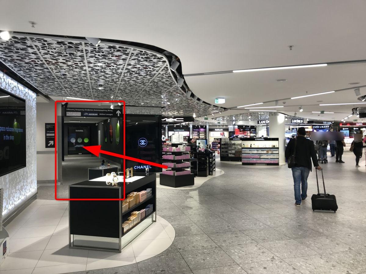ラルナカ空港-ラウンジ入口